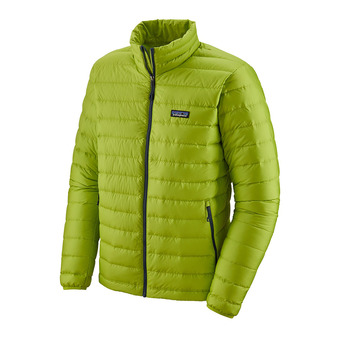 Patagonia DOWN SWEATER - Down Jacket - Men's - peppergrass green w/classic navy