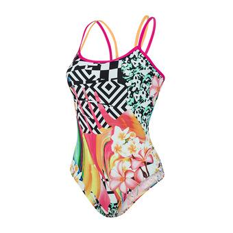 Speedo JUNGLEJAZZ PLACEMENT - 1-Piece Swimsuit - Women's - black
