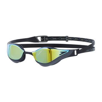 Speedo FASTSKIN PURE FOCUS MIRROR - Gafas de natación black/gold