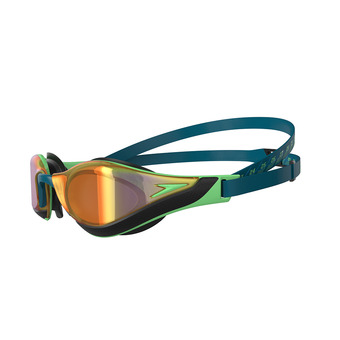 Speedo FASTSKIN PURE FOCUS MIRROR - Swimming Goggles - blue/green