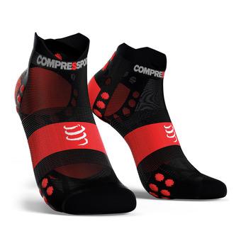 Pro Racing Socks v3.0 Ultralight Run Low Unisexe BLACK/RED