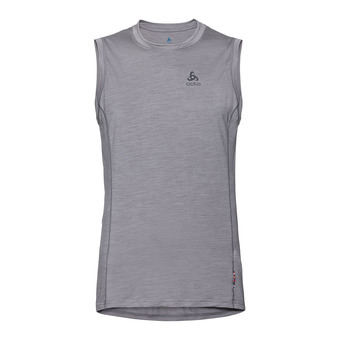 BL TOP Crew neck Singlet NATURAL + LIGHT Homme grey melange