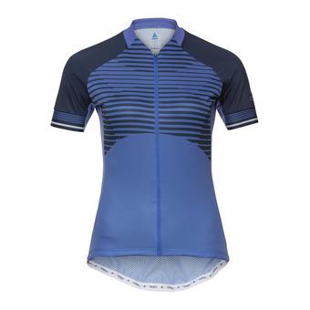 Stand-up collar s/s full zip ZEROWEIGHT Femme amparo blue - diving navy