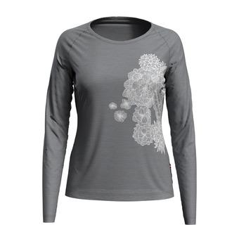 T-shirt l/s crew neck CONCORD Femme grey melange - bloom print SS20