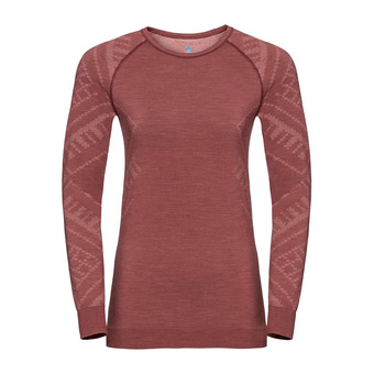 T-shirt ML NATURAL KINSHIP Femme roan rouge melange