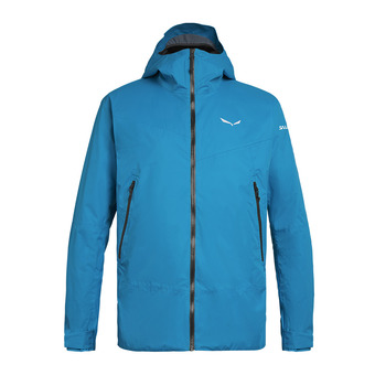 Salewa CLASTIC 2 POWERTEX 2L - Jacket - Men's - blue danube