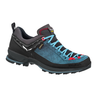 Salewa MTN TRAINER 2 GTX - Hiking Shoes - Women's - dark denim/fluo coral