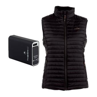 Therm-Ic POWERVEST HEAT - Doudoune chauffante Femme black + batterie 5200mAh