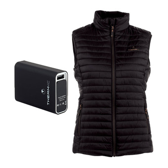 Therm-Ic POWERVEST HEAT -Piumino riscaldante Donna black + batteria 5200mAh