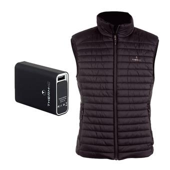 Therm-Ic POWERVEST HEAT - Anorak calefactable hombre black + batería 5200mAh