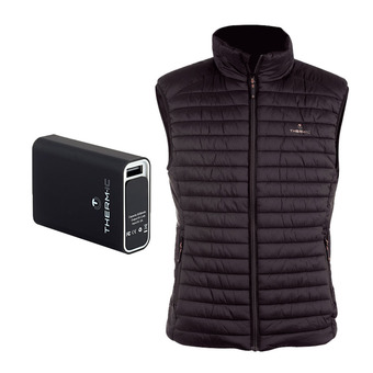 Therm-Ic POWERVEST HEAT - Piumino riscaldante Uomo black + Batteria 5200mAh