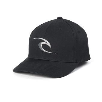 FLECK CURVE PEAK CAP Homme BLACK