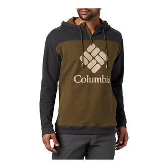 Columbia Lodge French Terry Hoodie Homme New Olive Heather, Shark Heather