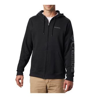 M Columbia Logo Fleece FZ Homme Black, City Grey