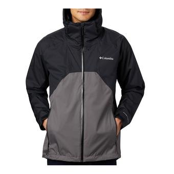 Rain Scape Jacket Homme Black, City Grey