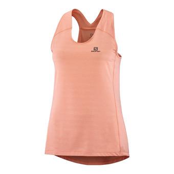 T Shirt XA TANK W PAPAYA/Heather Femme PAPAYA/HEATHER