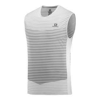 T Shirt SENSE TANK M White/Alloy Homme WHITE/ALLOY