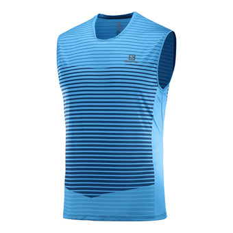 T Shirt SENSE TANK M VIVID /Myconos B Homme VIVID BLUE/MYCONOS BLUE