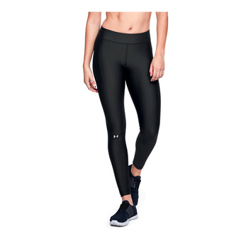 UA HG Armour Legging-BLK Femme Black/Black/Metallic Silver