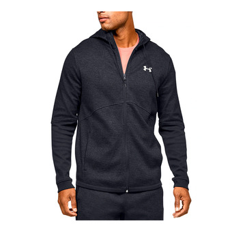 DOUBLE KNIT FZ HOODIE-BLK Homme Black/Onyx White