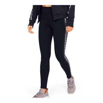 UA FAVORITE LEGGING BRANDED-BLK Femme Black/Onyx White/Black