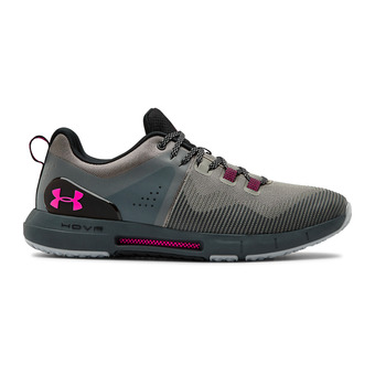 UA HOVR Rise-GRN Homme Gravity Green/Pitch Gray/Pink Surge