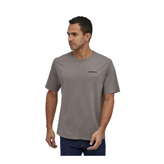 M's P-6 Logo Organic T-Shirt Homme Feather Grey