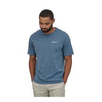 M's P-6 Logo Organic T-Shirt Homme Pigeon Blue