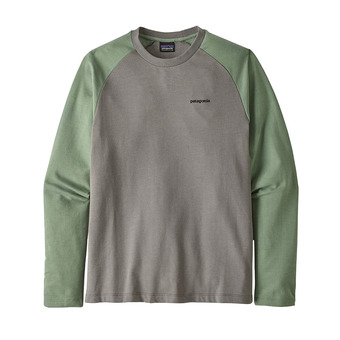 M's P-6 Logo LW Crew Sweatshirt Homme Feather Grey w/Ellwood Green
