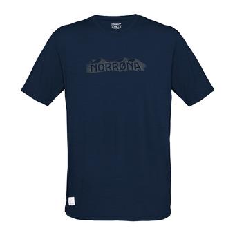 svalbard wool T-Shirt (M) Indigo Night/ElmwoodHomme