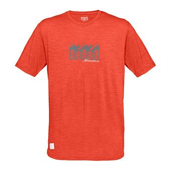 svalbard wool T-Shirt (M) Rooibos TeaHomme