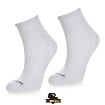 Smartwool PHD RUN ULTRA LIGHT MINI - Calcetines white