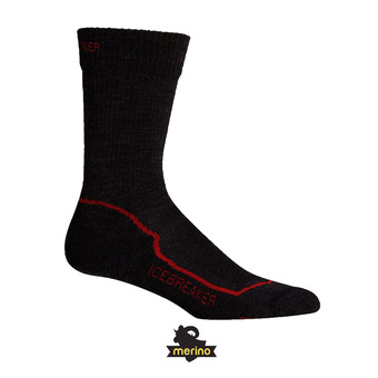 Chaussettes homme HIKE+ LT CREW jet HTHR/red/black