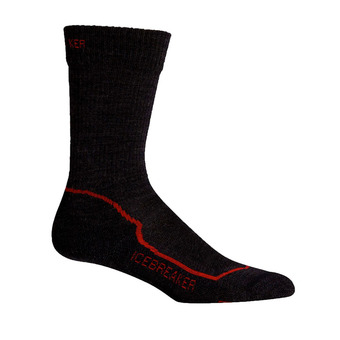 Icebreaker HIKE+ LIGHT CREW - Chaussettes Homme jet hthr/red/black