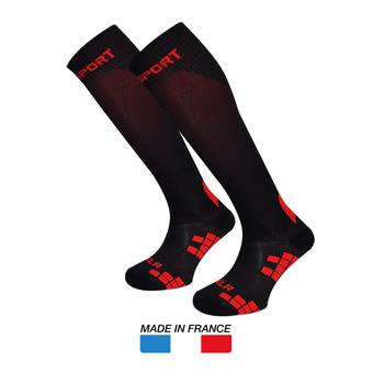 Chaussettes de compression XLR noir/rouge