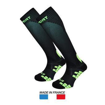 Calcetines de compresión XLR negro/verde