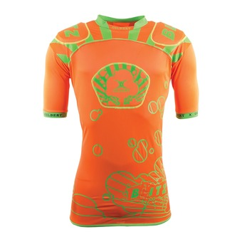 Gilbert BLITZ - Hombrera hombre orange/green