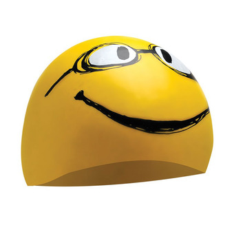 Gorro de natación HAVE A NICE DAY yellow all