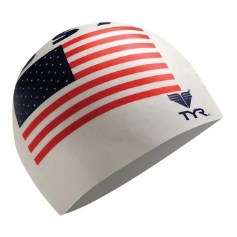 Gorro de natación USA white