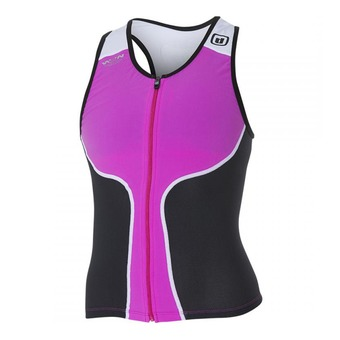 Camiseta de tirantes tritraje mujer iTOP pink/black/white