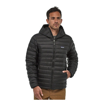 Hooded Down Jacket - Men's - DOWN SWEATER black