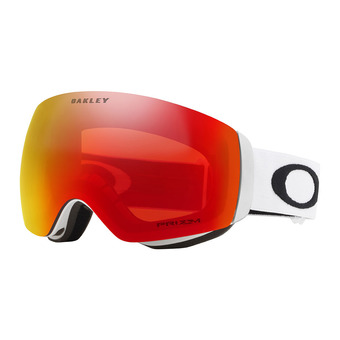Oakley FLIGHT DECK XM - Gafas de esquí matte white/prizm torch iridium