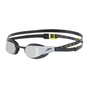 Speedo FASTSKIN ELITE MIRROR - Swimming Goggles - black/grey
