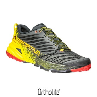 Chaussures de trail homme AKASHA black/yellow