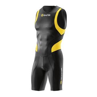Combinaison trifonction zip arrière homme TRI400 black/yellow