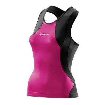 Skins TRI400 - Camiseta trifunción mujer black/pink