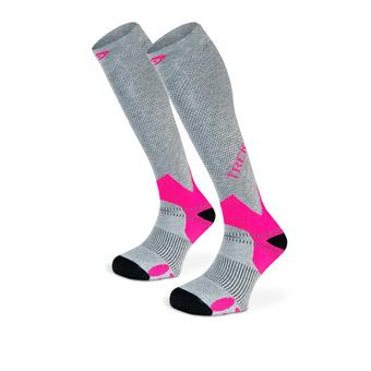 Hiking Socks - TREK grey/pink