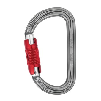 Petzl AM'D TWIST-LOCK - Mosquetón grey acier