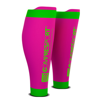 Compressport R2 V2 - Manchons rose fluo