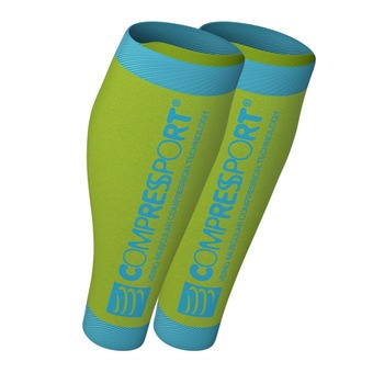 Compressport R2 V2 - Medias yellow fluo